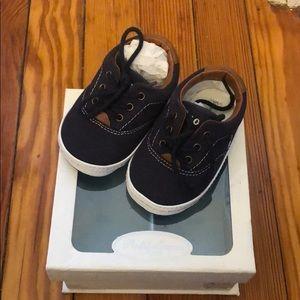 Gently worn Ralph Lauren Layette sneakers.